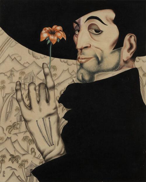 Wladimir Belkin - Dandy met rode bloem