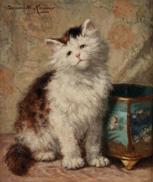 Henriette Ronner - A curious kitten