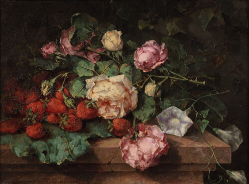 Margaretha Roosenboom - Roses and strawberries