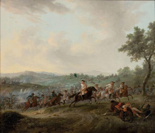Dirk Langendijk - Cavalry charging