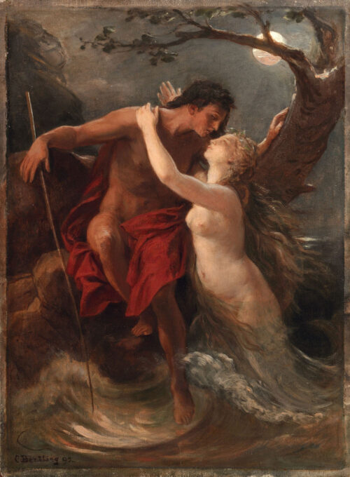 Carl Bertling - Endymion and Selene or Hermaphrodite and Salmacis