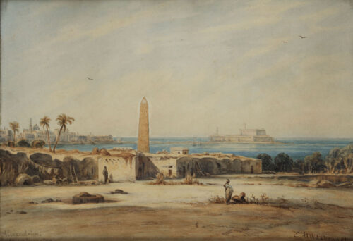 Eduard Hildebrandt - Cleopatra's needle/obelisk