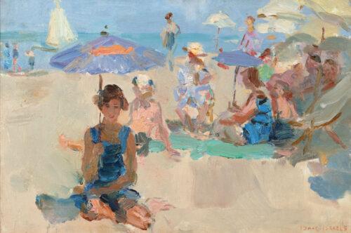 Isaac Israëls - Liveliness in the Viareggio beach, Italy, on a sunny summer day