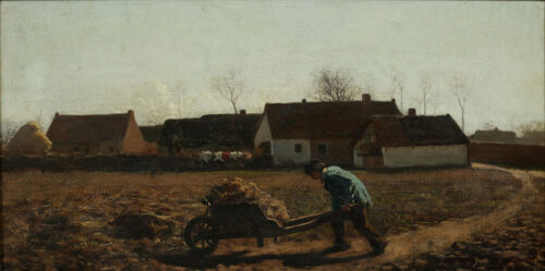 Jules Breton - La Brouette ( the wheelbarrow)