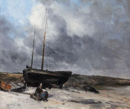Antoine Vollon - Vue du petit Port de Dieppe