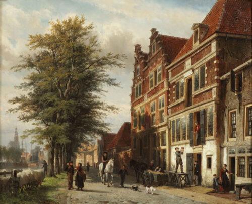 Cornelis Springer - The Binnenhaven, Hoorn