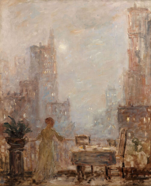 Evert Pieters - The Balcony, Manhattan, New York