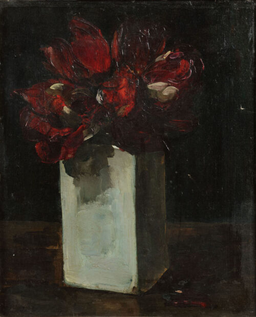 Floris Verster - Red tulips in vase