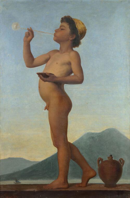 Fortune Joseph Seraphin Layraud - Jeune Napolitain a la bulle de savon