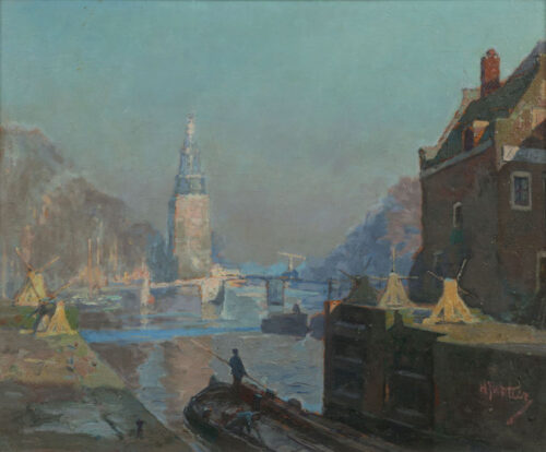 Hendrik Jan Wolter - View of the Oude Schans, Amsterdam