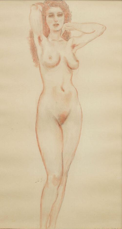 Jan Sluijters - A nude standing