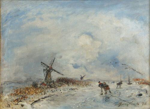 Johan Bartold Jongkind - Patineurs
