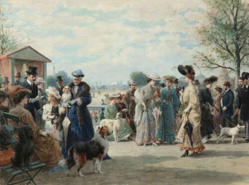Otto Eerelman - Concours des chiens - Promenade Jeu de Paume, Paris