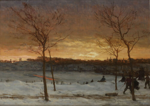 Willem Bastiaan Tholen -  Snow fun: the Nieuwe Scheveningseweg, the Hague