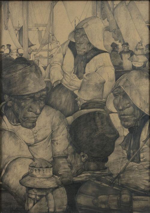 Willem van den Berg - Fishermen