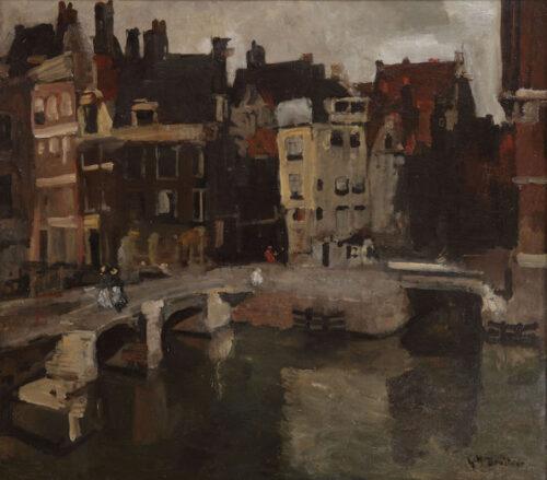 George Hendrik Breitner -  Langebrug en Langebrugsteeg, Amsterdam