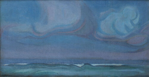 Adriaan Herman Gouwe - Clouds and waves, the Pacific Ocean,  Tiarei, Tahiti