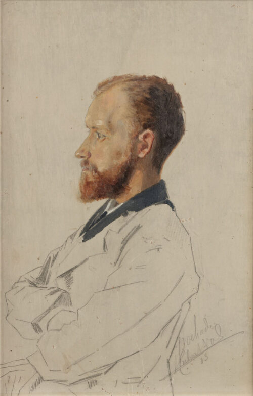 Hubert Vos - Portrait of a bearded man