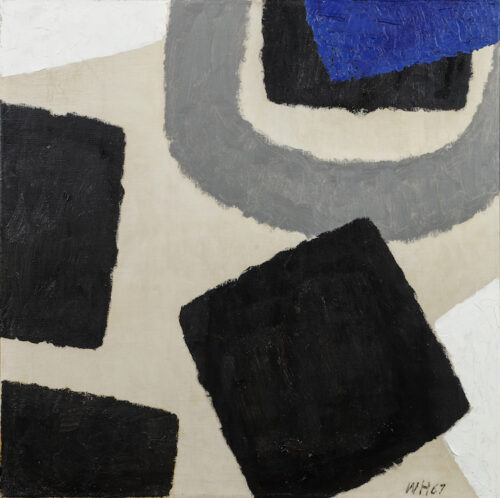 Willem Hussem - Untitled; abstract composition