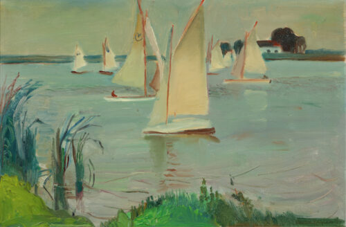 Harry Kuijten -  Sailingboats on the Bergse Plas, Rotterdam