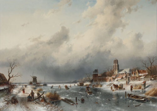 Charles Leickert -  Winter in Holland