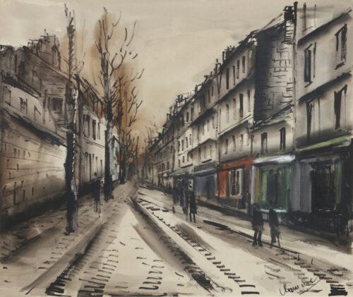 Maurice de Vlaminck - Scene de Rue, Paris