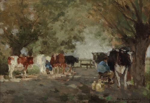 Johan Hendrik Weissenbruch - Milking time