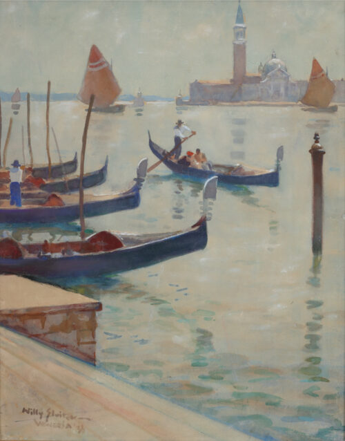 Willy Sluiter-Venice with the San Giorgio Maggiore