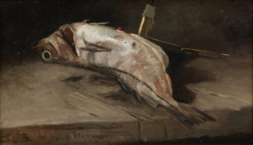 Bernard Johannes Blommers - A fish on a table