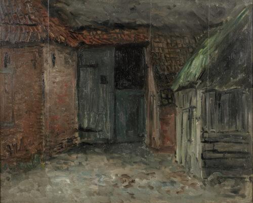 Hendrik Willem Mesdag - A barn in Drenthe