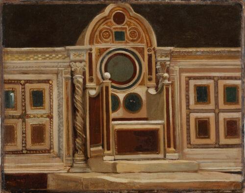 Jean-Baptiste Huysmans - Interior of the Church of San Lorenzo fuori le Mura