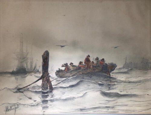 Albertus van Beest-The rowing boat