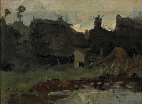 Floris Verster - Farm in a landscape