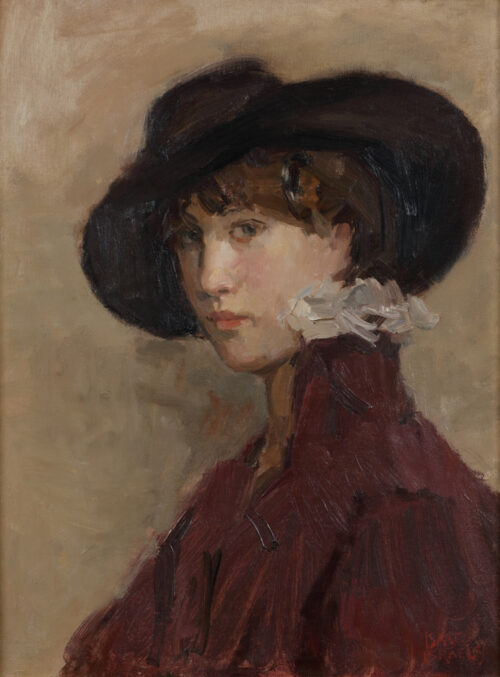 Isaac Israëls - Portrait of the model Willy Gordeau