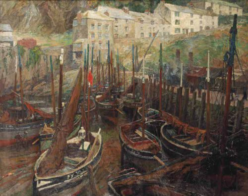 Hendrik Jan Wolter-Ships in the harbour of Polperro, United Kingdom