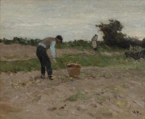 Anton Mauve-Potato harvesting
