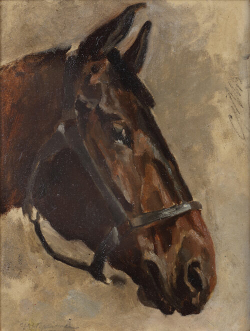 George Hendrik Breitner - Head of a horse
