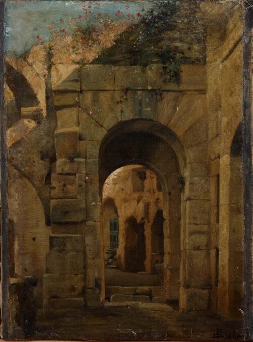 European School 1869 - A Roman ruin