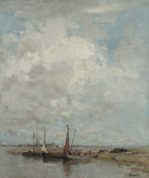 Jacob Maris-Boats in a harbor