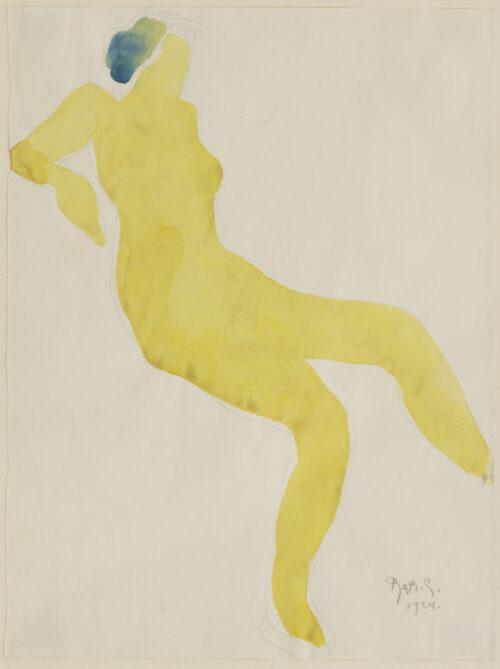 Reyer Stolk - Reclining Nudes - yellow