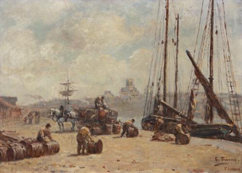 Charles François Pecrus - Le Port de Fecamp