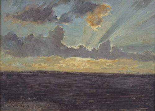 German School - Cloudy sunset