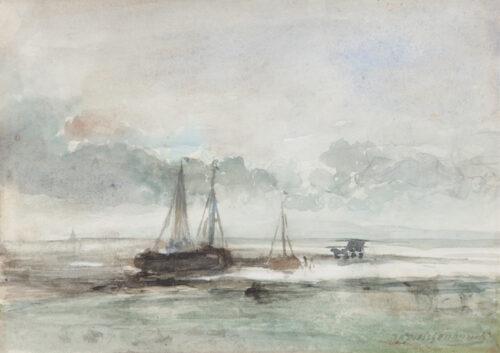 Johan Hendrik Weissenbruch - Low tide