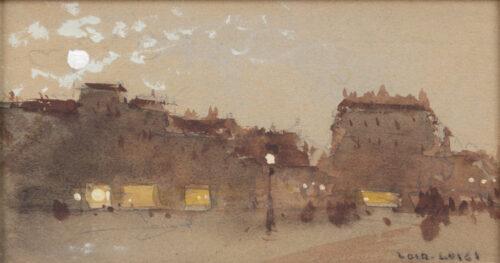 Luigi Loir - Effet de nuit Parisian streetscene
