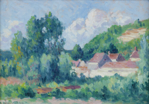 Maximilien Luce - Village a travers les arbres