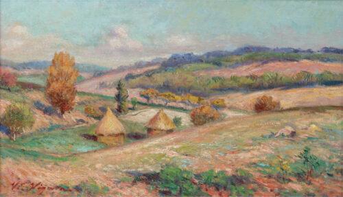 Victor Vignon - Haystacks in a hilly landscape
