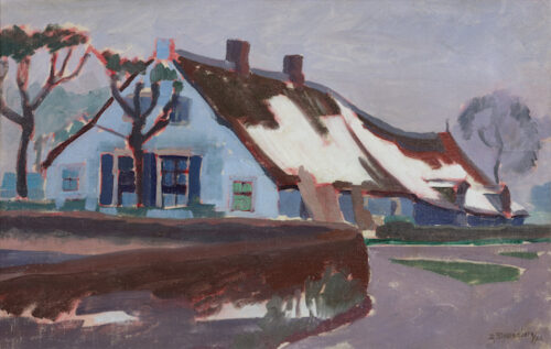 Dirk Smorenberg - Farmhouse in winter, Kortenhoef