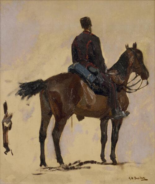 George Hendrik Breitner - Hussar on horseback