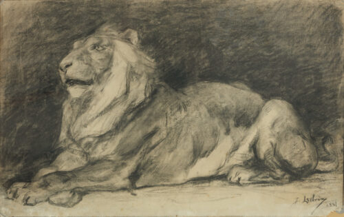 Jean Delvin - King of the Jungle resting