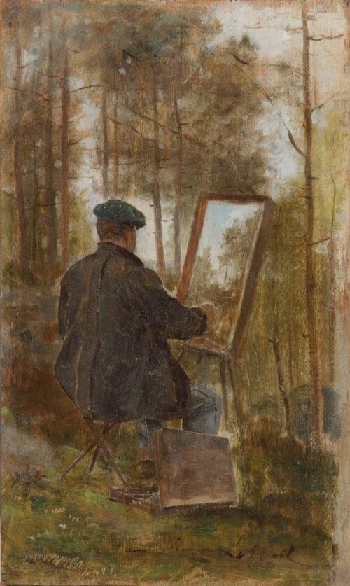 Marie-Joseph-Ernest Le Nail - Portrait of Ernest Simon painting